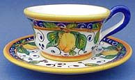 Limone Coffee Tea Cup and Saucer