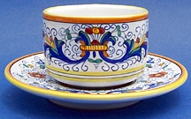 Ricco Deruta Coffee Tea Cup and Saucer