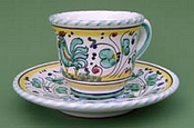 Green Orvieto Espresso Cup and Saucer