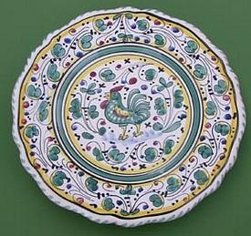 Green Orvieto Scalloped Salad Dessert Plate