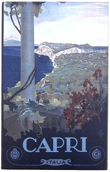 Capri Vintage Italian Wall Sign - Wood